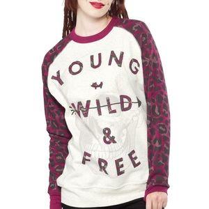 Glamour Kills young wild & free skull sweater XL